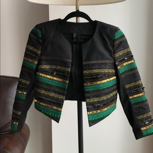 H&M Sequined Green and Gold Blazer